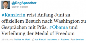 Tweet von @RegSprecher