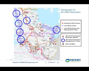 Überlegungen für den 380-kV-Leitungsausbau (noch vor Fukushima) Quelle: Drucksache 17/2112)
