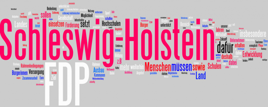 Landtagswahlprogramm 2012 der FDP als Wordle