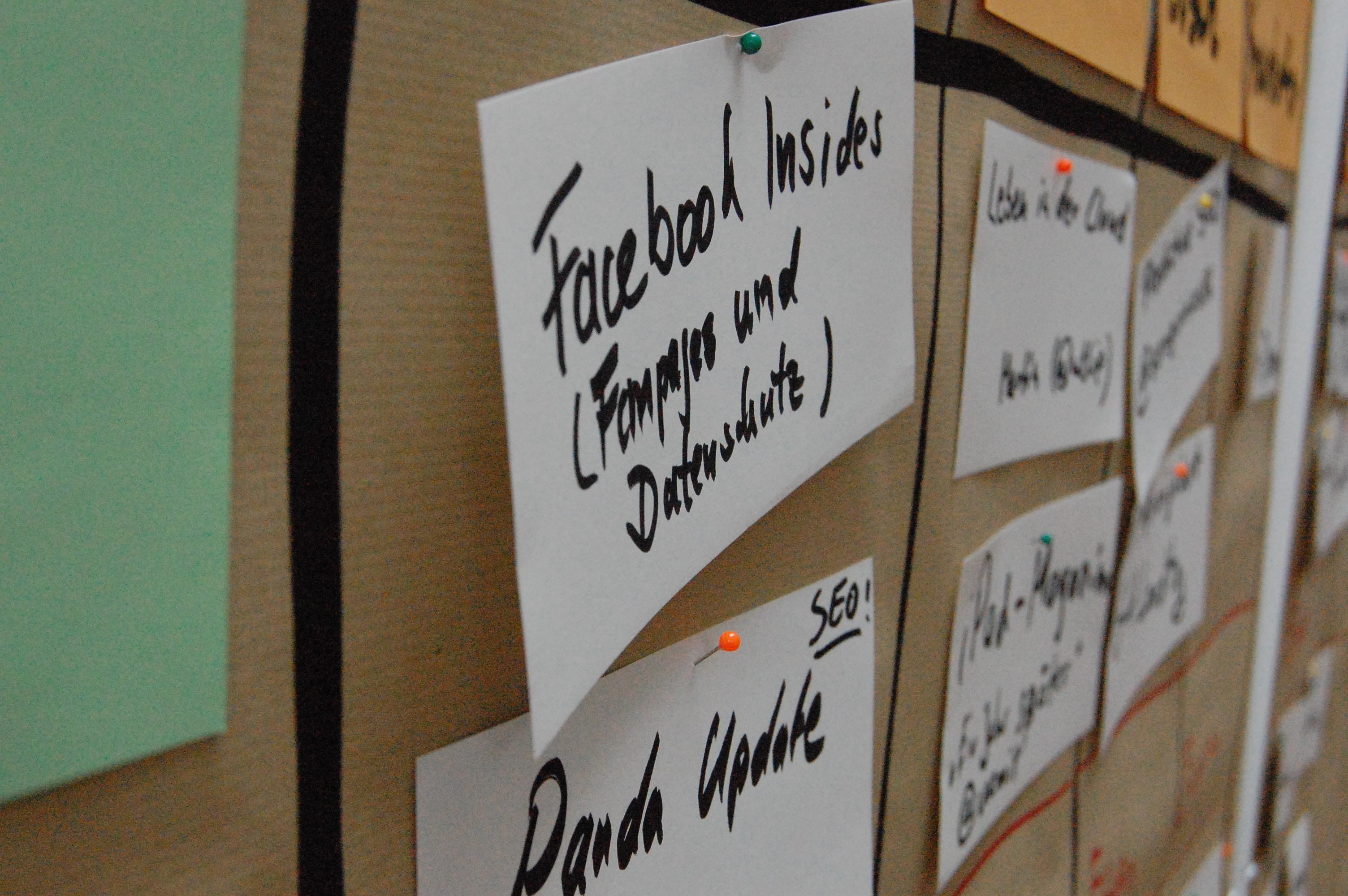 Sessionplan vom BarCamp Kiel² 2011