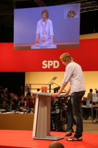 Lennart Fey auf dem SPD Bundesparteitag im November 2009