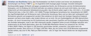 Christian von Boetticher bei Facebook