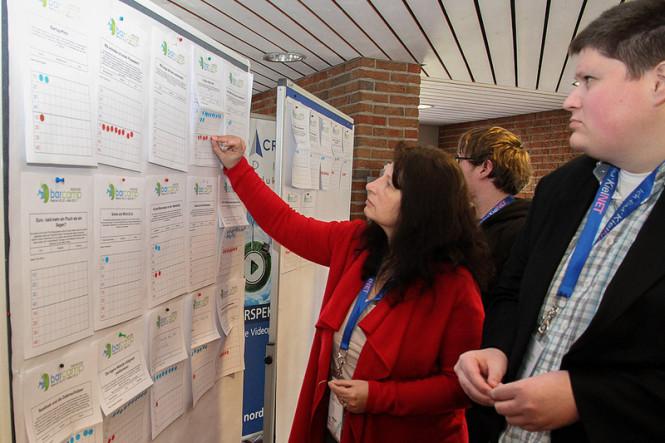 Sessionboard mit Teilnehmern beim BarCamp Westküste 2012