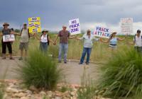 Amerikanische Anti-Fracking-Aktivisten