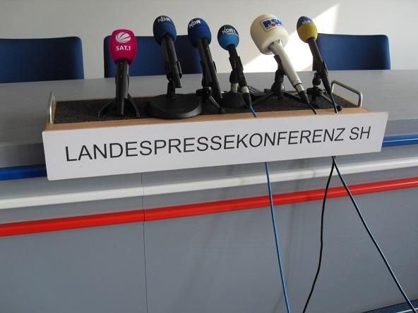 Landespressekonferenz Schleswig-Holstein