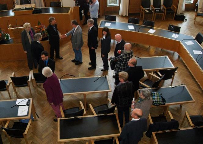 Dr. Jens Rönnau erhält am 20.11.2014 die Andreas-Gayk-Medaille der Stadt Kiel