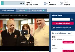 Screenshot von wir-bewegen.sh mit beispielhafter Shoppinglist