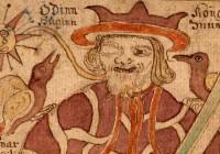 """""""Odin hrafnar"""" von Ranveig,  lizenziert unter Wikimedia Commons. Odins Raben Hugin und Munin sind  Wappenvögel des Danevirke Museums."""