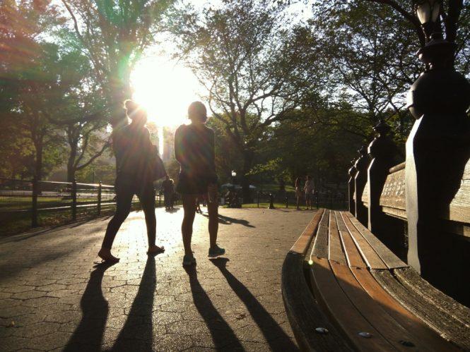 Spaziergänger im Central Park