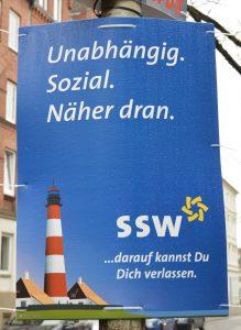 SSW Wahlplakat
